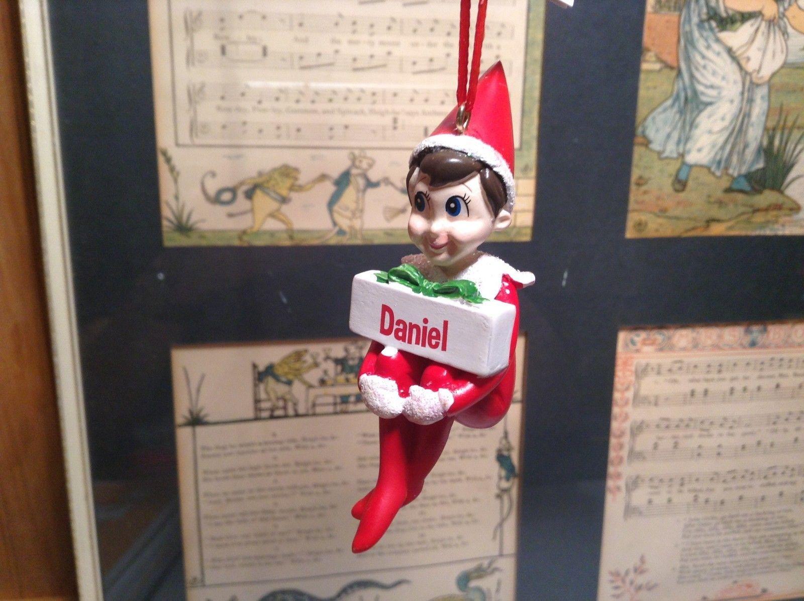 Dept 56 - Elf on the Shelf - Elf named Daniel Christmas Ornament