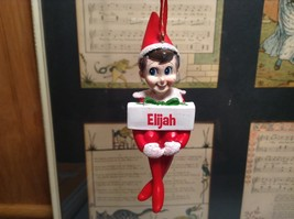 Dept 56 - Elf on the Shelf - Elf named Elijah Christmas Ornament image 1