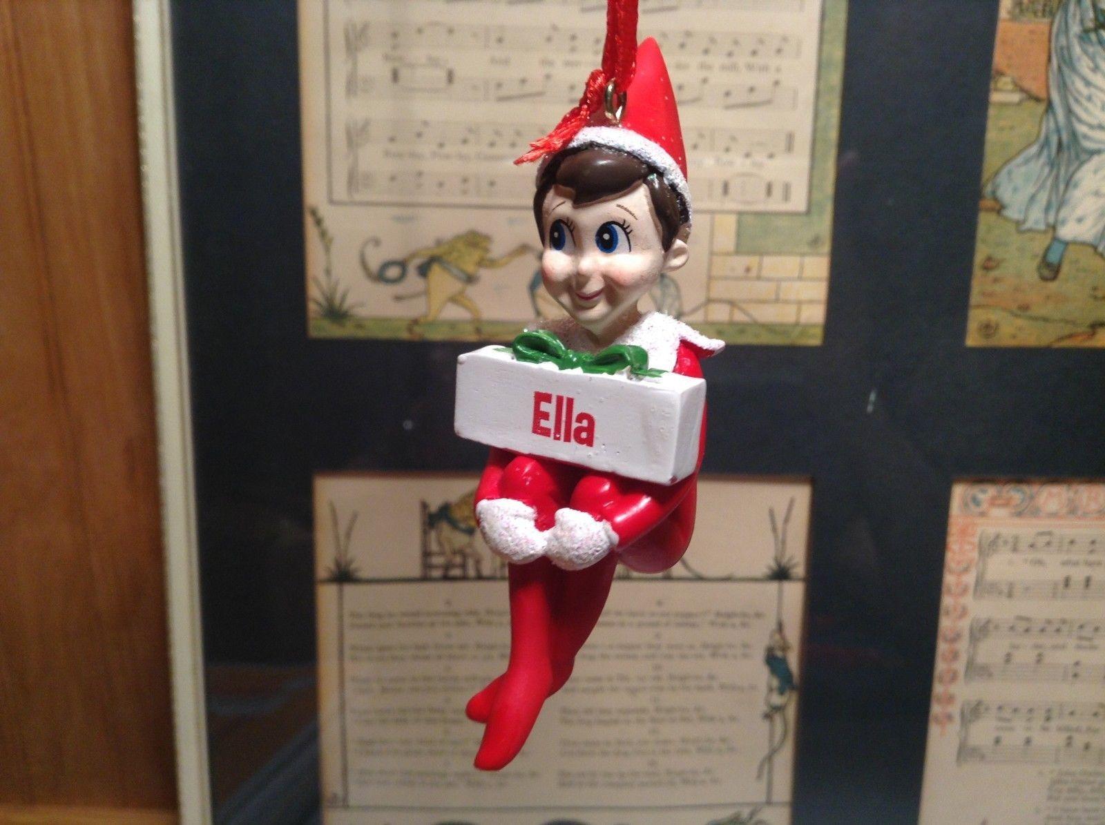 Dept 56 - Elf on the Shelf - Elf named Ella Christmas Ornament
