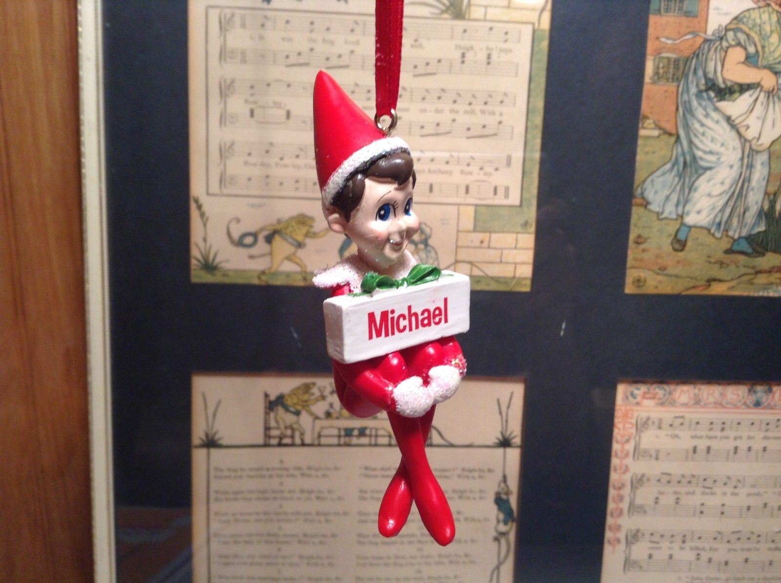 Dept 56 - Elf on the Shelf - Elf named Michael Christmas Ornament