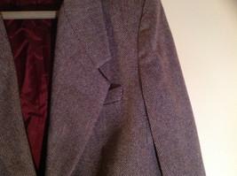 Dallas Purple Red Tone Herringbone Skirt Suit Jacket 3 Button Closure Size 12/13 image 4