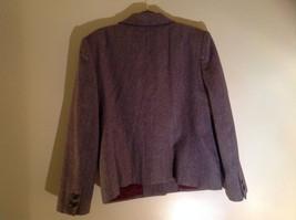 Dallas Purple Red Tone Herringbone Skirt Suit Jacket 3 Button Closure Size 12/13 image 6