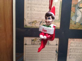 Dept 56 - Elf on the Shelf - Elf named Sam Christmas Ornament image 1