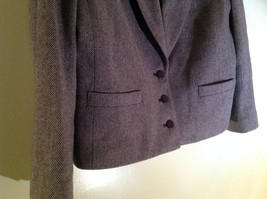 Dallas Purple Red Tone Herringbone Skirt Suit Jacket 3 Button Closure Size 12/13 image 3