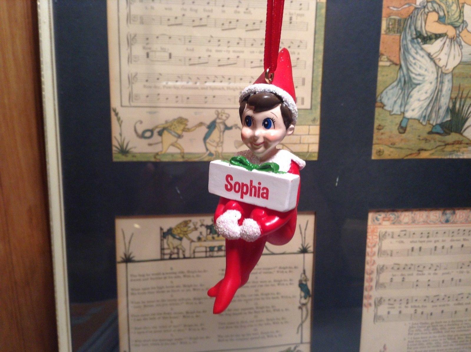 Dept 56 - Elf on the Shelf - Elf named Sophia Christmas Ornament