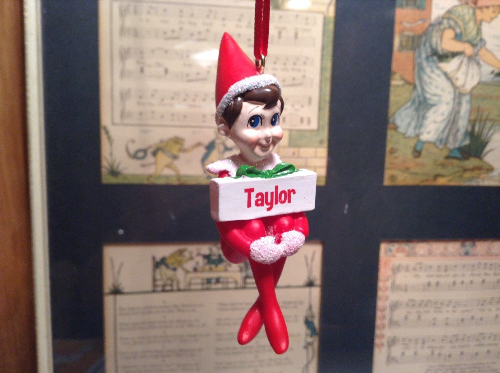 Dept 56 - Elf on the Shelf - Elf named Taylor Christmas Ornament