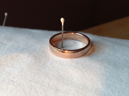 Elegant  Gold plated  Band Ring choice of size 5 6 or 7 specify at payment time image 1