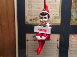 Dept 56 - Elf on the Shelf - Hannah  banner Christmas Ornament image 1
