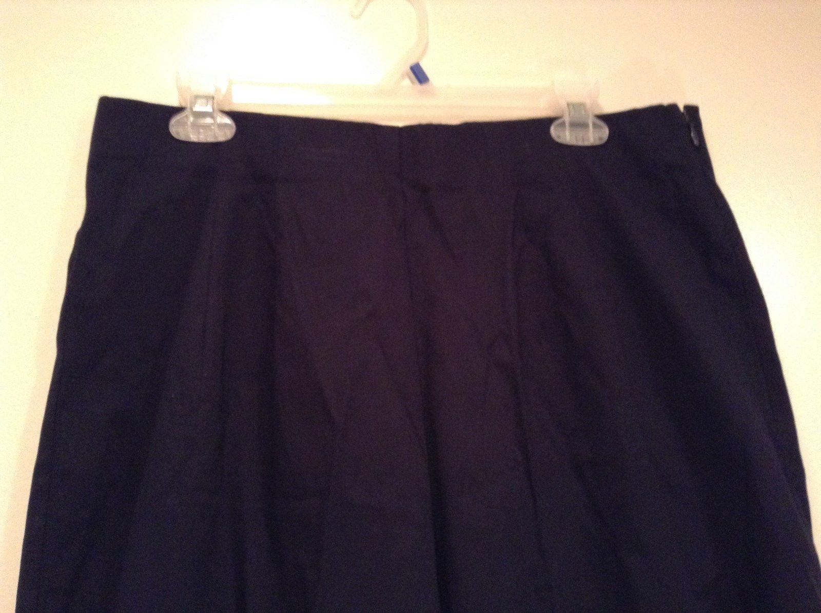 Dark Blue Briggs New York Size 16W Capri Pants Side Zipper Closure Cotton Blend