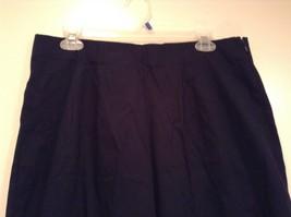 Dark Blue Briggs New York Size 16W Capri Pants Side Zipper Closure Cotton Blend image 3