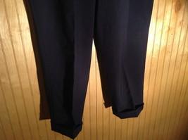 Dark Blue Pleated Dress Pants Size 40 Cordovan and Grey 100 Percent Virgin Wool image 3