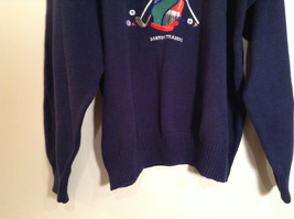 Dark Blue with Embroidered Golf Design Boston Traders Sweater Size 2XL Tall image 3