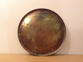 Decorative Wall Metal Plate from Egypt Brown Gold Tone Metal Copper image 3