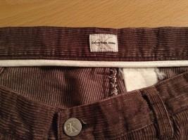 Dark Brown Corduroy Jeans Calvin Klein Jeans 100 Percent Cotton No Size Tag image 7