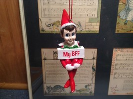 Dept 56 - Elf on the Shelf -  My BFF best friend  Christmas Ornament