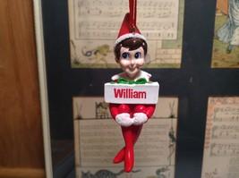Dept 56 - Elf on the Shelf -  William banner Christmas Ornament image 1