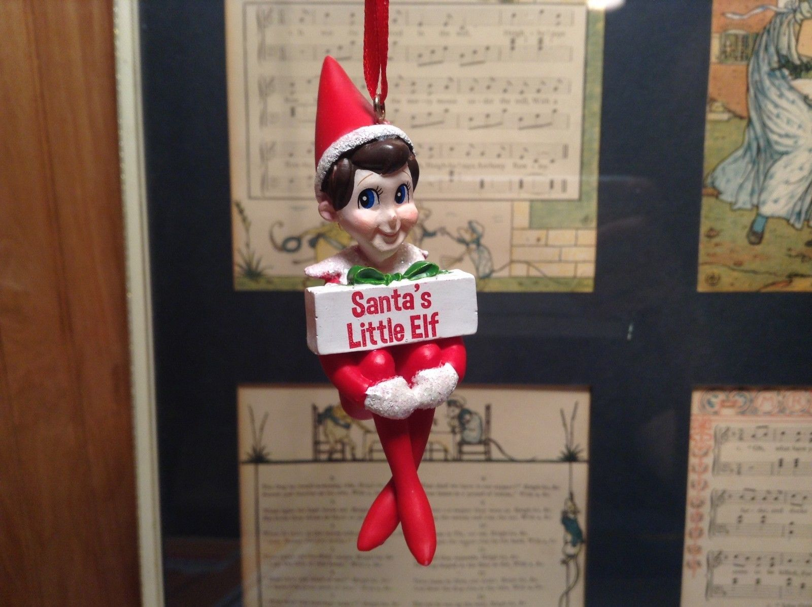 Dept 56 - Elf on the Shelf - Santa's Little Elf banner -  Christmas Ornament