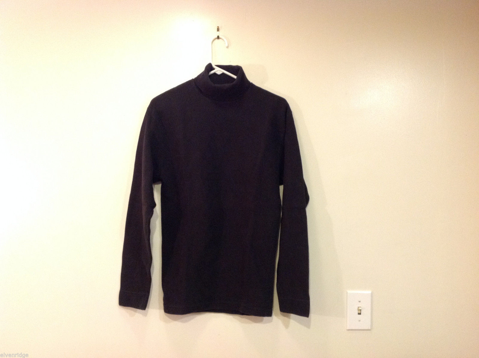 Design Studio Black 100% cotton Turtleneck Sweater, Size M