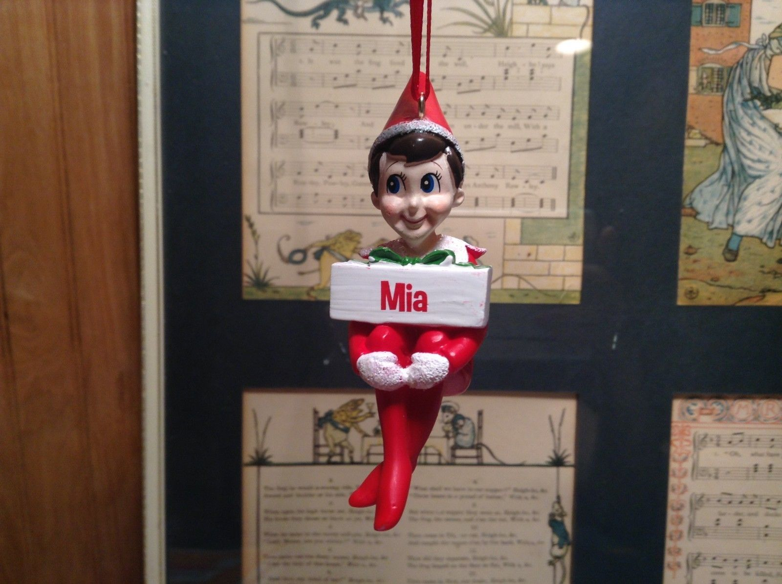 Dept 56 - Elf on the Shelf - Mia  banner Christmas Ornament