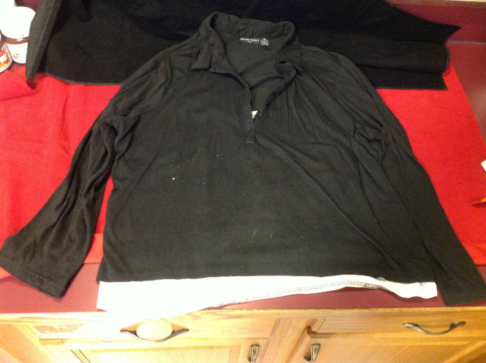 Derek Heart Plus Long Sleeve Black White Shirt Size 3X
