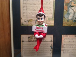 Dept 56 - Elf on the Shelf - Merry Christmas banner Christmas Ornament