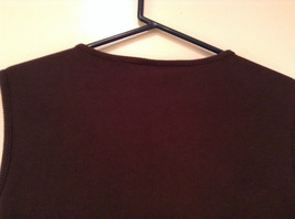 Dark Brown V Neck Sleeveless 100 Percent Cotton Top Jill Collection Size XL image 5