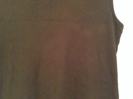Dark Brown V Neck Sleeveless 100 Percent Cotton Top Jill Collection Size XL image 6