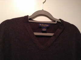 Dark Brown V Neck Long Sleeve Brooks Brothers Sweater Size Large image 2