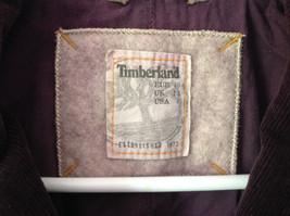 Dark Brown Timberland Corduroy Jacket 2 Front Pockets 3 Button Closure Size 8 image 3