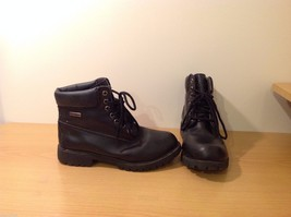 Dexter Black Combat Boots Waterproof Oil Skid Resistant Size 6.5 Wide