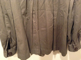 Dark Brown Gray H and M Size 10 Long Hidden Button Up Closure Jacket Pockets image 7