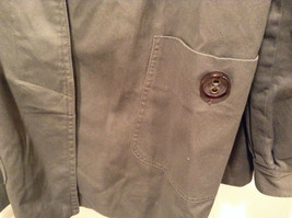 Dark Brown Gray H and M Size 10 Long Hidden Button Up Closure Jacket Pockets image 5
