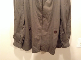 Dark Brown Gray H and M Size 10 Long Hidden Button Up Closure Jacket Pockets image 3