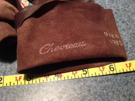 Dark Brown Leather Gloves Very Soft Inside Cheoreau Size 6 Vintage image 7