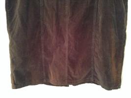Dark Brown V Neck Sleeveless Dress 3X Eric Charles 100 Percent Cotton corduroy image 10