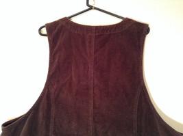 Dark Brown V Neck Sleeveless Dress 3X Eric Charles 100 Percent Cotton corduroy image 8
