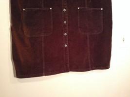 Dark Brown V Neck Sleeveless Dress 3X Eric Charles 100 Percent Cotton corduroy image 6