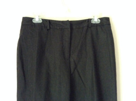 Dark Gray 100 Percent Wool Pants Inner Lining Cuffed Bottoms by David N Size 0 image 2