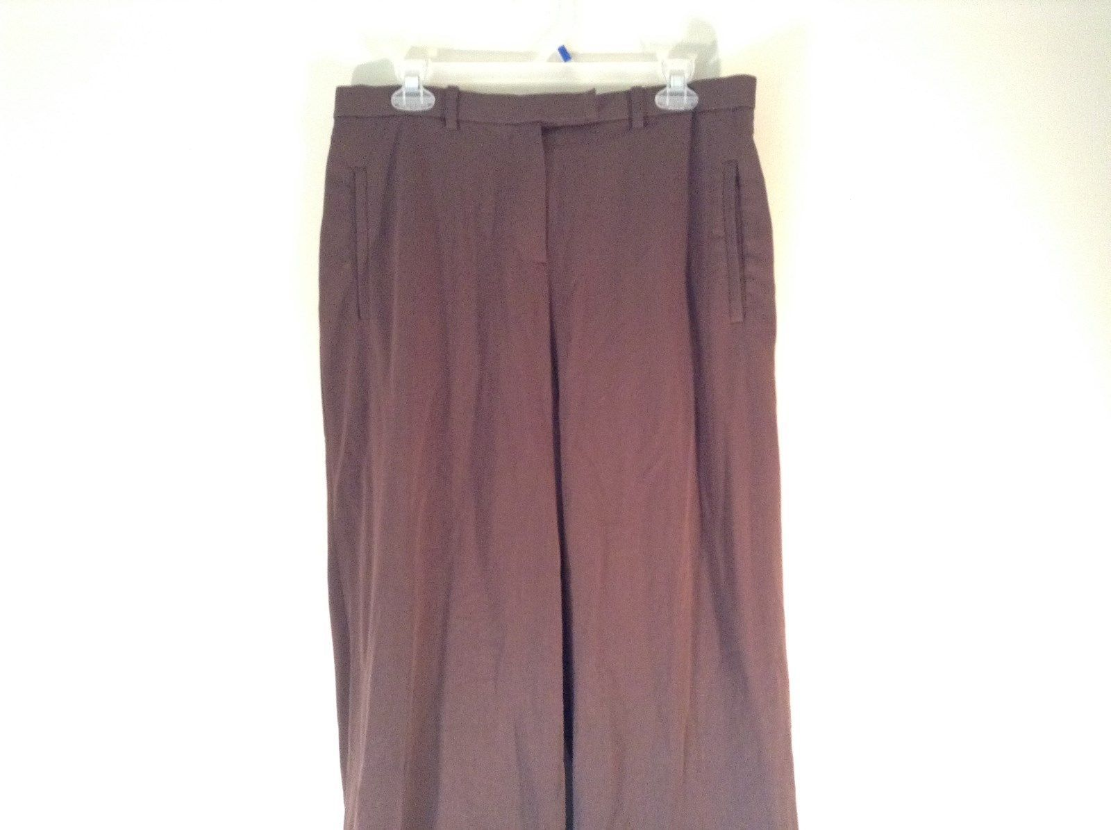 Dialogue Size 16 Brown Casual Pants Stretchy Two Side Pockets