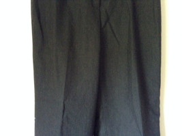 Dark Gray 100 Percent Wool Pants Inner Lining Cuffed Bottoms by David N Size 0 image 3