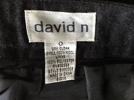 Dark Gray 100 Percent Wool Pants Inner Lining Cuffed Bottoms by David N Size 0 image 8