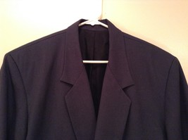 Dark Gray Jacket and Pant Suit COZZ Size Medium Two Button Closure Jacket image 4