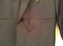Dark Gray Jacket and Pant Suit COZZ Size Medium Two Button Closure Jacket image 5