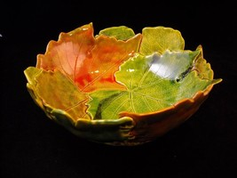 Fall Color Grape Leaf Suzanna Bowl New Handmade