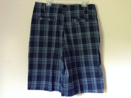 Dark Light Blue and Green Plaid Shorts by Bugle Boy Size 34 image 5