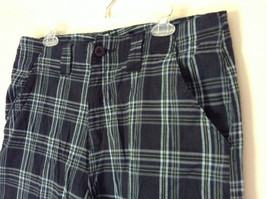 Dark Light Blue and Green Plaid Shorts by Bugle Boy Size 34 image 4
