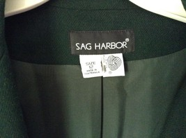 Dark Green Wool Suit Jacket Blazer by Sag Harbor Size 12 Shoulder Pads image 2
