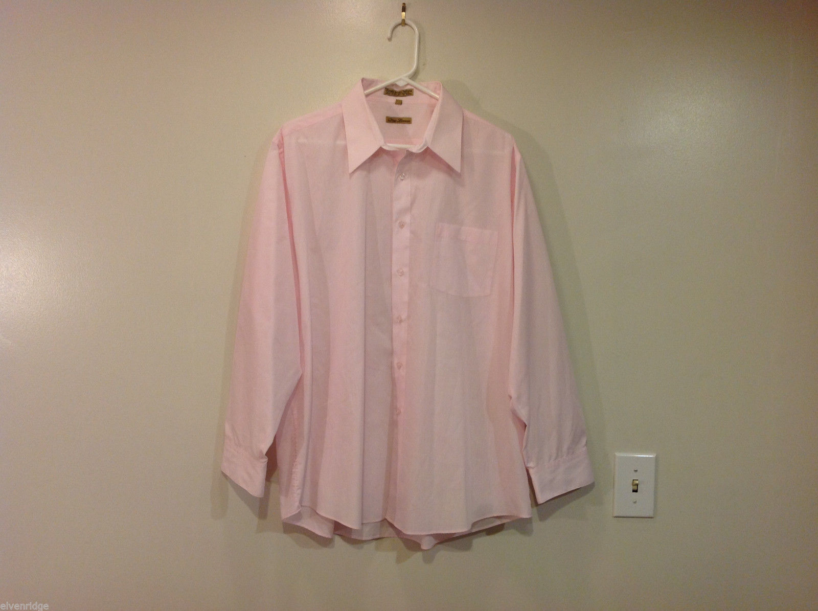 Dino Lorenzo Light Pink Dress Shirt, Size XL (17-1/2 , 34/35)
