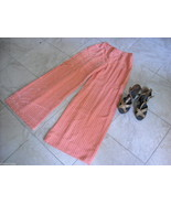 Disco Queen Vintage Bell Bottom Pants melon w beads and Wooden sandals - $74.24
