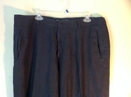 Dark Navy Blue Europann Size 50 Dress Pants 100 Percent Linen image 2